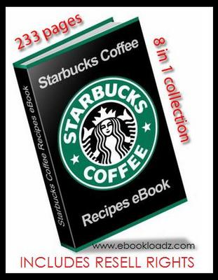 Product picture STARBUCKS ULTIMATE RECIPE EBOOK With RESELL RIGHTS 8 in 1 COLLECTION