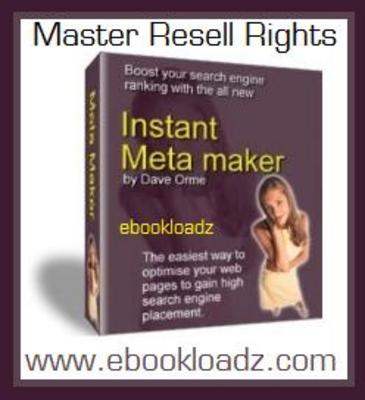 Product picture Instant Meta Maker With Master Resell Rights !!