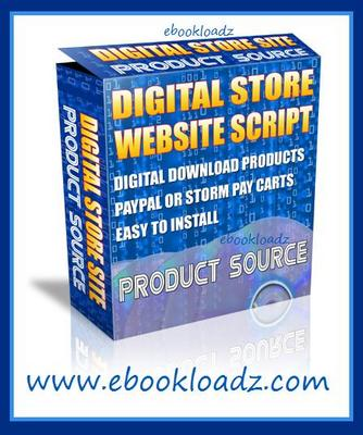 Product picture Digital Store WS Script With Master Resell Rights PLR NEW !!