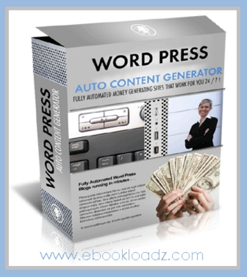Product picture Automate Your Blogs With Wordpress Auto Content Generator Includes Master Resell Rights ! NEW !!